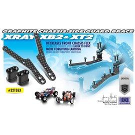 Xray XRA321263 XB2 , XT2 Graphite Chassis Side Guard Brace (2)