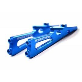 Exotek Racing EXO1690BLU  Wing Mounts Blue Anodized for B6.1 B6.1D B6 B6D