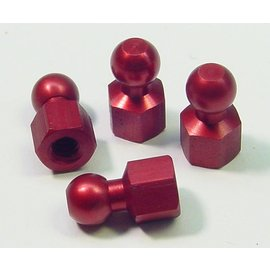 CRC CLN1407 Red Anodized Hex Ball Set (4)