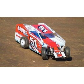 Salvas SMB-1000 Salvas Mudboss Body Clear For Traxxas Slash