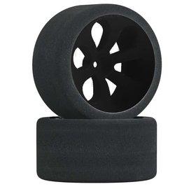 JACO JAC2055LP Muddboss Foam Tires Mounted On Black Prism Wheels (2)