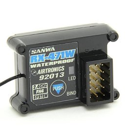 Sanwa SNW107A41131A RX-471WP 2.4GHz FHSS-4 4-Channel Waterproof Receiver M12/MT4