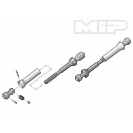 MIP MIP13360 Spline CVD™ Center Drive Kit, Axial SCX10 Vehicles w/12.3 in. Wheelbase