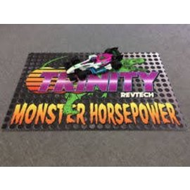 """Trinity TEP9111 Monster Horsepower Large Pit Mat 41L"""" x 27W"""" Lightweight Full Color Print"""