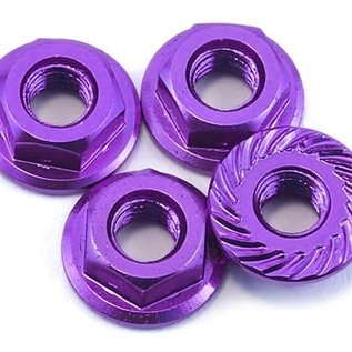 175RC 175-11031 175RC Purple Aluminum 4mm Serrated Wheel Nuts