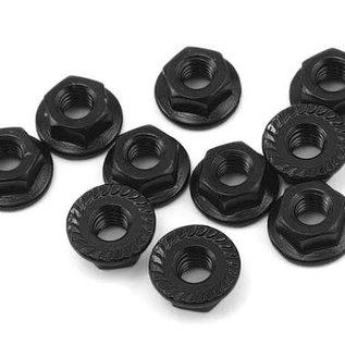 Yeah Racing YEA-LN-M4S-BK 4mm Aluminum Serrated Lock Nut (10) (Black)