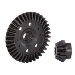Traxxas TRA6879R Ring gear, differential/ pinion gear, differential (machined, spiral cut) (rear)
