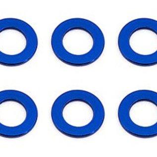Team Associated ASC31381 Ballstud Washers, 5.5x0.5 mm, blue aluminum