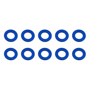 Team Associated ASC31381 Ballstud Washers, 5.5x0.5 mm, blue aluminum