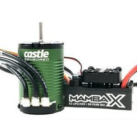Castle Creations CSE010-0161-00 Mamba X, Sensored, 25.2V WP 1410-3800KV Combo