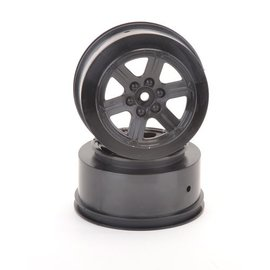 Schumacher SCHU4733 Short Course Wheel - Black +3 offset pr