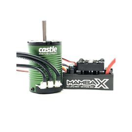 Castle Creations CSE010-0161-01 MAMBA X SCT Pro Sensored 25.2V WP ESC & 1410-3800KV 5mm Combo