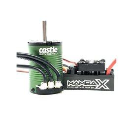 Castle Creations CSE010-0161-01 MAMBA X SCT Pro Sensored 25.2V WP ESC & 1410-3800KV 5mm Combo
