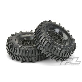 "Proline Racing PRO10133-10 Interco Bogger 1.9"" G8 Tires, Mounted on Impulse Black Plastic Internal Bead-Loc Wheels"