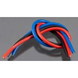 TQ Wire TQW1103 10 Gauge Super Flexible Wire - 1' ea. Black, Red, Blue