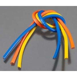 TQ Wire TQW1104 10 Gauge Super Flexible Wire - 1' ea. Blue, Yellow, Orange