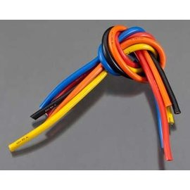 TQ Wire TQW1105 10 Gauge Super Flexible Wire - 1' ea. Black, Red, Blue, Yellow, Orange