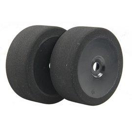 BSR BSRC8027B 1/8 Red Mounted GT Foam Tire On Black Dish Wheels (2)