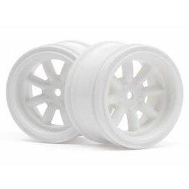 HPI HPI3810 Vintage 8 Spoke Wheel 31mm White 6mm Offset