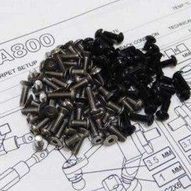 Hiro Seiko 69999 Titanium & Black Aluminum Awesomatix A800 screw kit
