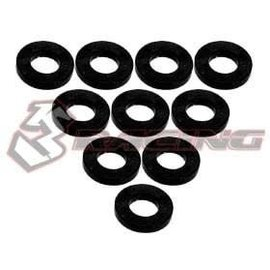 3-Racing 3RAC-WF310BK Black Aluminum M3 Flat Washer 1.0mm (10)