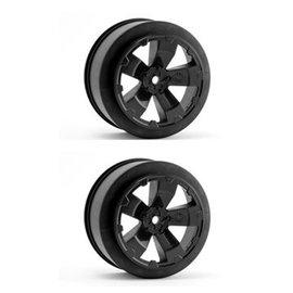 Avid RC AV1100-B  Black Sabertooth T6.1 or SC10 +3mm Short Course Wheel (2)