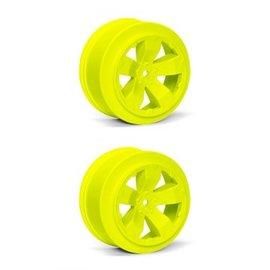 Avid RC AV1100-Y  Yellow Sabertooth T6.1 or SC10 +3mm Short Course Wheel (2)