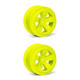J Concepts AV1100-Y  Yellow Sabertooth T6.1 or SC10 +3mm Short Course Wheel (2)