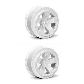 Avid RC AV1100-W  White Sabertooth T6.1 or SC10 +3mm Short Course Wheel (2)
