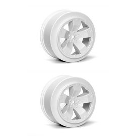 J Concepts AV1100-W  White Sabertooth T6.1 or SC10 +3mm Short Course Wheel (2)