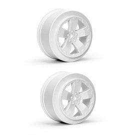 Avid RC AV1101-W  White Sabertooth Losi-SCTE or 22SCT Short Course Wheel (2)