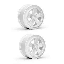 J Concepts AV1101-W  White Sabertooth Losi-SCTE or 22SCT Short Course Wheel (2)