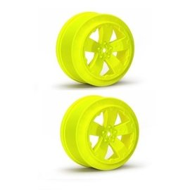 J Concepts AV1101-Y  Yellow Sabertooth Losi-SCTE or 22SCT Short Course Wheel (2)