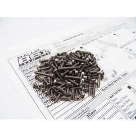Hiro Seiko 48346 Hiro Seiko B6.1 B6.1D Titanium Hex Socket Screw Set (89)