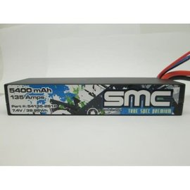 SMC SMC54135-2S2PT  True Spec Premium 7.4V 5400mAh 104Amps/50C Lipo w/Traxxas Plug