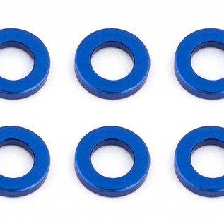 Team Associated ASC31382  Ballstud Washers 5.5 x 1.0mm Blue Aluminum (10)