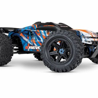 Traxxas TRA86086-4  Orange E-Revo VXL Brushless 1/10 Scale 4WD Monster Truck with TQi 2.4GHz TSM