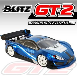 BLITZ BLZ60805-10  BLITZ 1/8 Clear Body GT2 (1.0mm) with Wing 1pcs