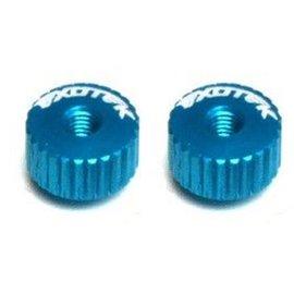 Exotek Racing EXO1191LB Twist Nuts For M3 Thread, Light Blue