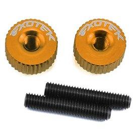 Exotek Racing EXO1191OR  Orange Twist Nuts For M3 Thread