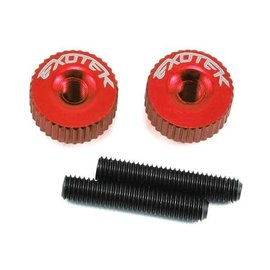 Exotek Racing EXO1191RED Twist Nuts For M3 Thread, Red
