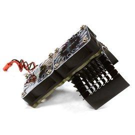 Integy C23137BLACK Black Motor Heatsink+Twin Cooling Fan