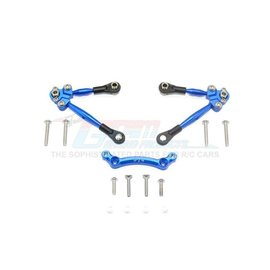 GPM Racing Products GT049F-B Blue Aluminum Front Tie Rod Set for Traxxas 4TEC 2.0