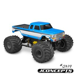 """J Concepts JCO0329  1979 Ford F-250 SuperCab Monster Truck Body w/ Bumpers-7"""" Width & 12.75"""" Wheelbase"""