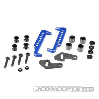 J Concepts JCO2604-1  Swing Operated Battery Retainer Set, Blue, for B6.1, B6.1D, T6.1 or SC6.1