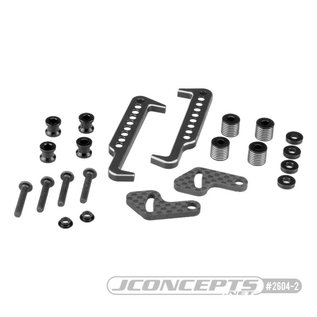J Concepts JCO2604-02  Black Swing Operated Battery Retainer Set for B6.1, B6.1D, T6.1 or SC6.1