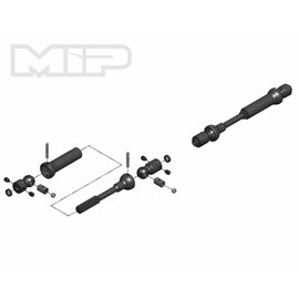 MIP MIP18160  X-Duty Center Drive Kit, 115mm to 140mm w/ 5mm Hubs, for Axial Wraith, SCX10 Trail Honcho, Wrangler