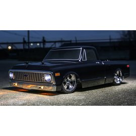 Vaterra VTR03100T1  1/10 1972 Chevy C10 Pickup Truck V-100 S 4WD Brushed RTR, Black