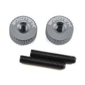 Exotek Racing EXO1191GM Twist Nuts For M3 Thread, Gun Metal