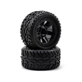 Proline Racing PRO1071-11 Pre-Mounted Dirt Hawg I (Desperado) (Black) (2) (1/16 E-Revo)